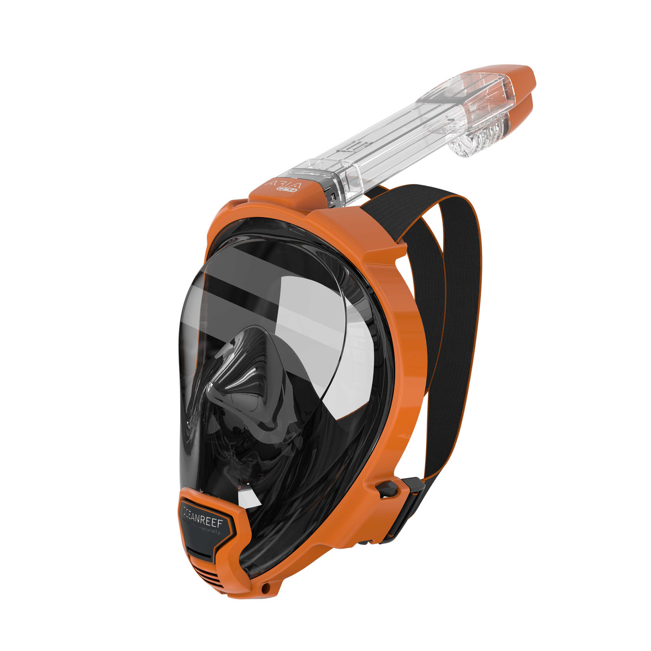 Ocean Reef Aria QR+ w/ Camera Holder Full Face Snorkeling Mask Anti-fog Orange