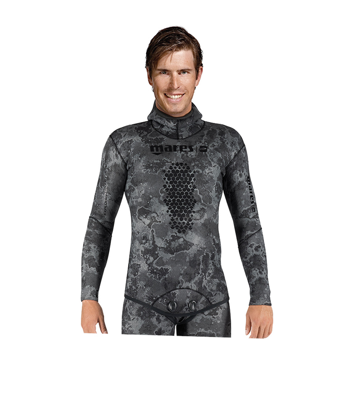Mares 7mm Explorer Wetsuit (Jacket Only) - Freediving Scuba Diving - Black Camo