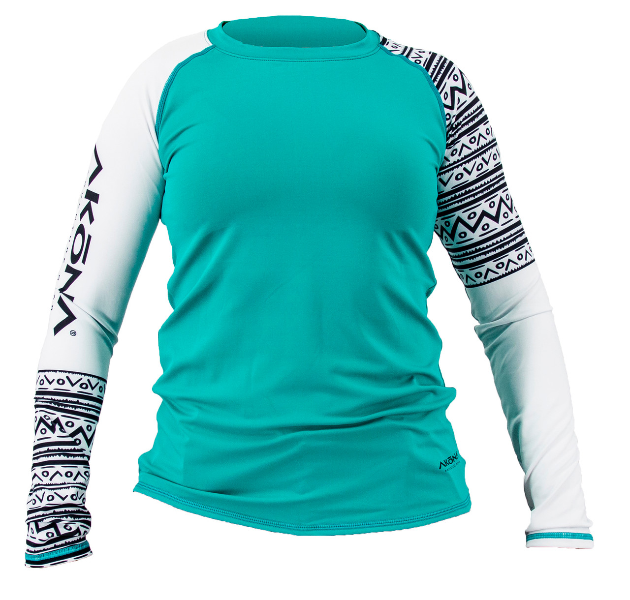 Akona Long Sleeve Women's Rash Guard Scuba Diving, Snorkeling, Teal