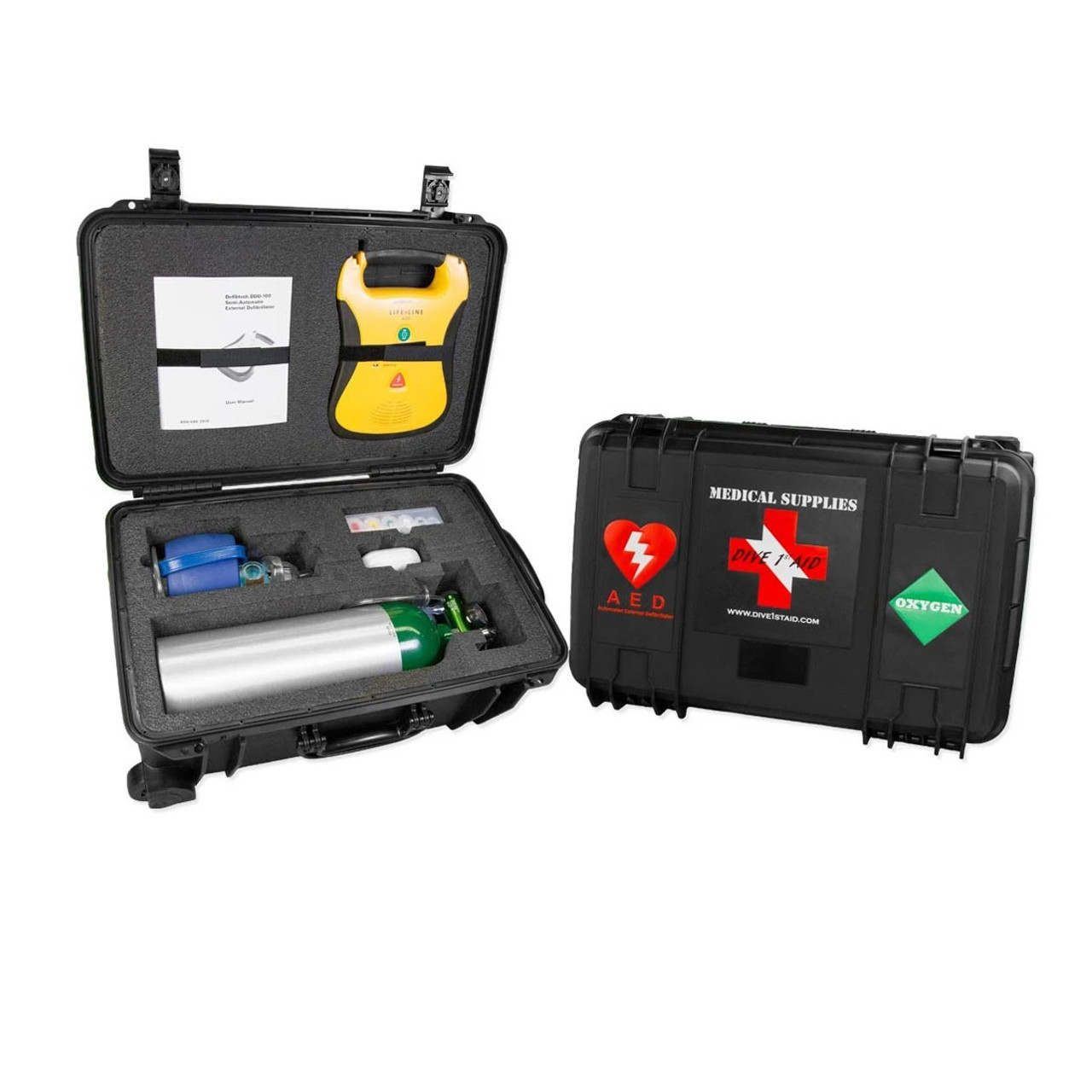 Dive 1st First Aid AED and Oxygen Medical Scuba Diving Kit