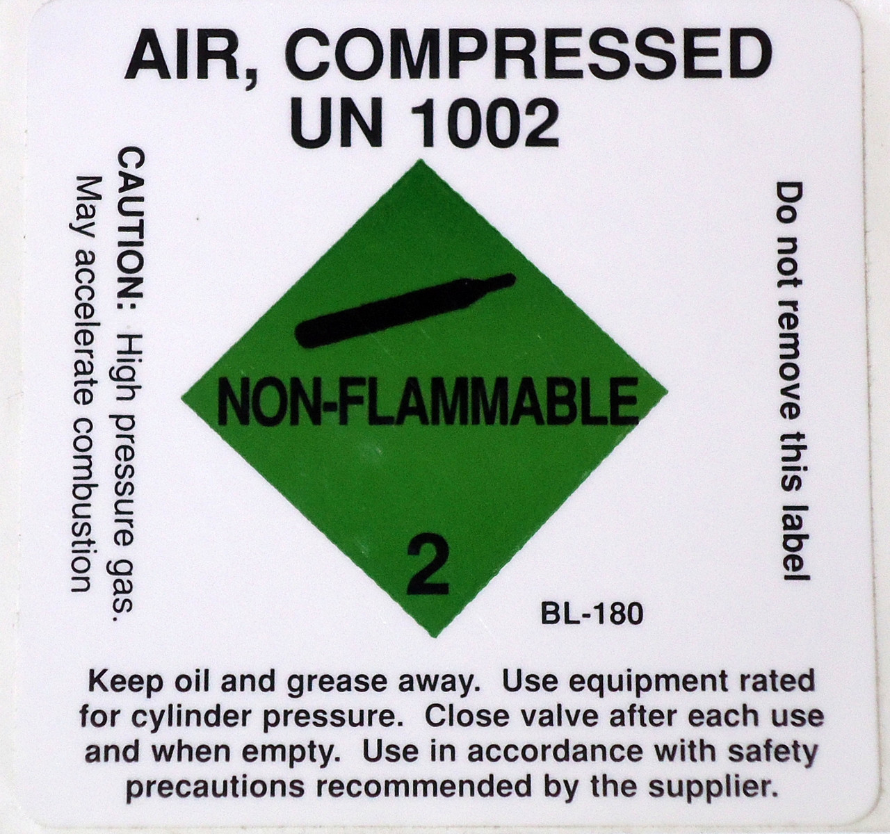 Compressed Air Tank Sticker label Scuba Diving Decal UN 1002 DS10