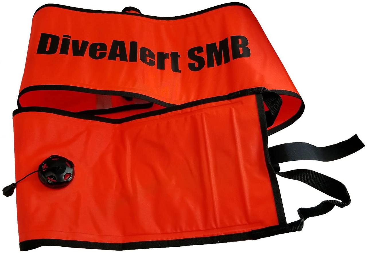 Dive Alert Surface Marker Buoy SMB Scuba Diving Dive Safety Signal Tube DMB1
