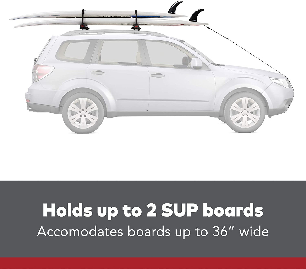 Yakima SUPDawg Rooftop Mounted Stand Up Paddleboard Rack for Vehicles 8004075