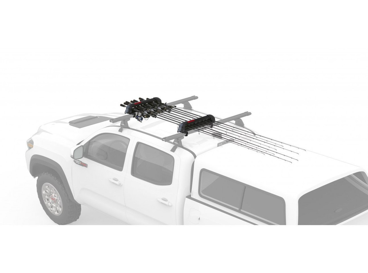 YAKIMA ReelDeal Rooftop Fishing Rod Mount Carries Up to 8 Fully-Rigged Rods