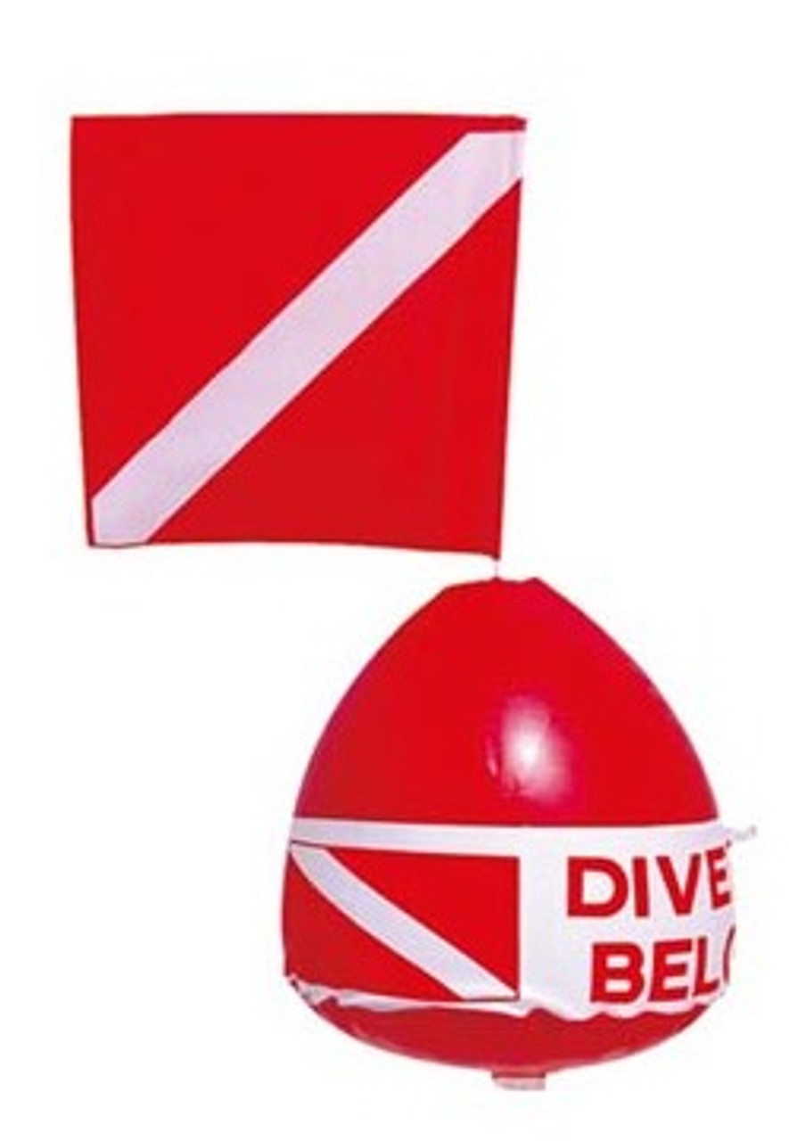 Diving Floating Mat Surface Marker Inflatable Dive Flag Buoy Signal Float
