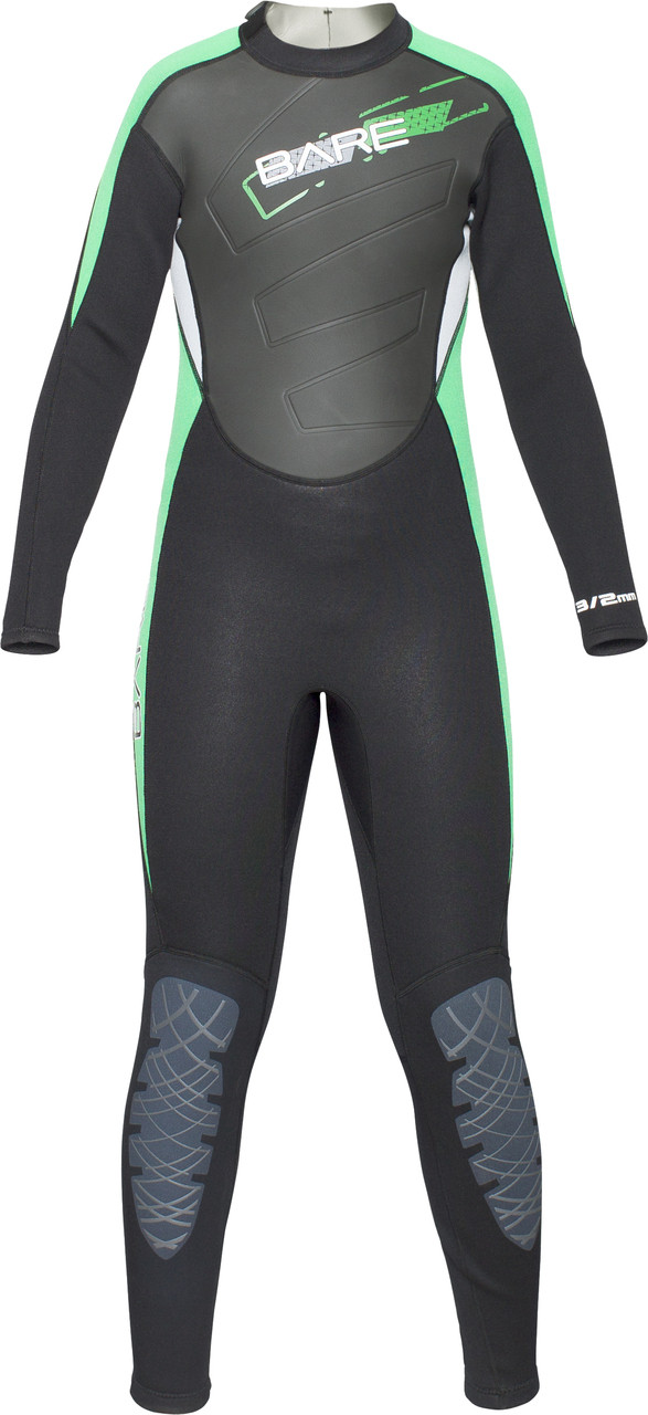 Bare Youth Kids 3/2mm Manta WetSuit Full Sun Guard Swim