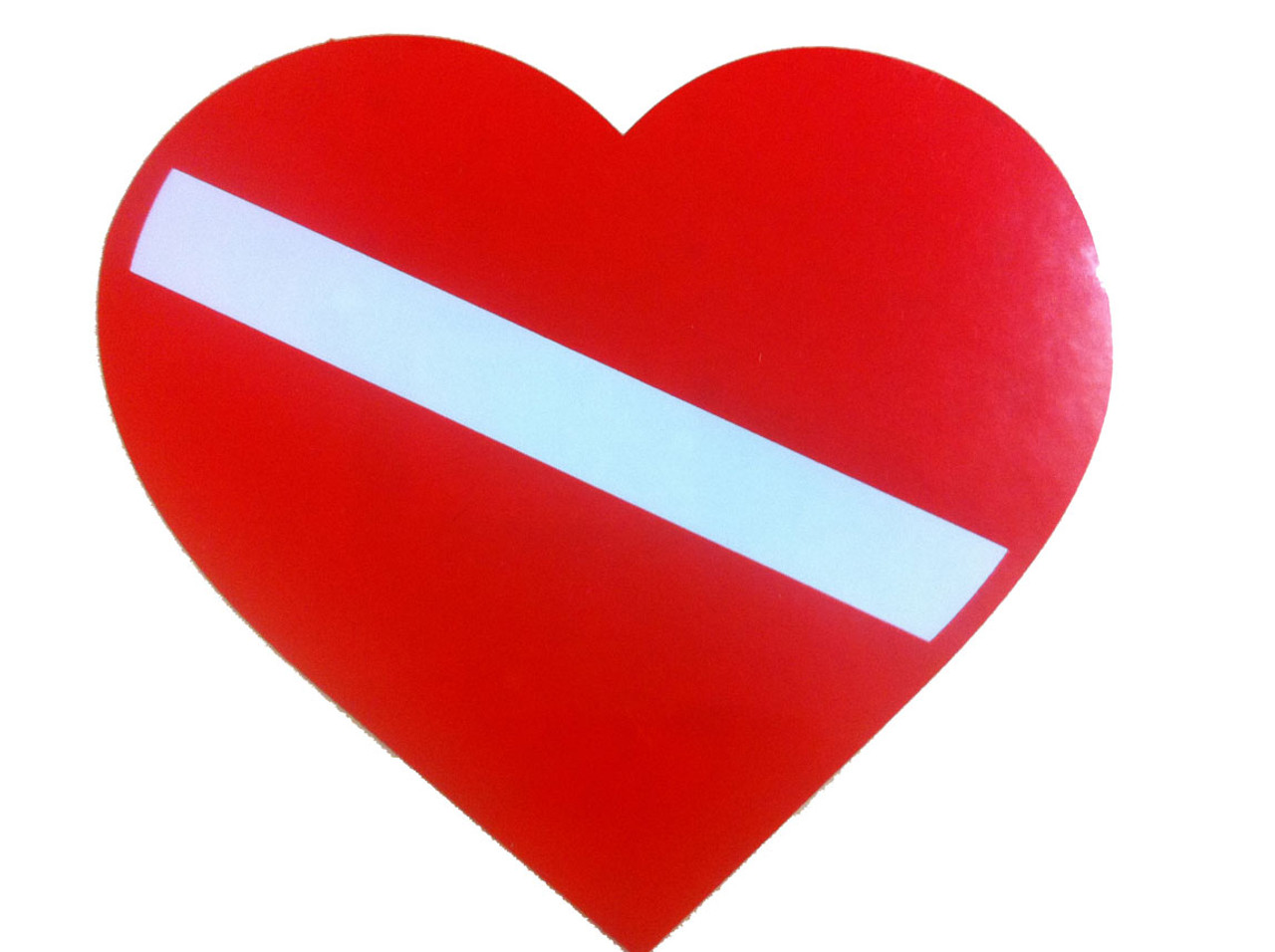 Heart Dive Flag Bumper Sticker