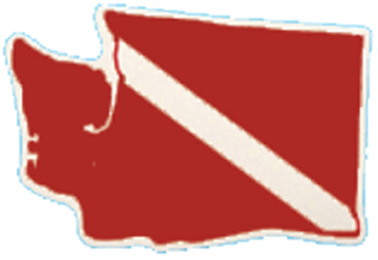 Washington State Dive Flag Decal Bumper Sticker
