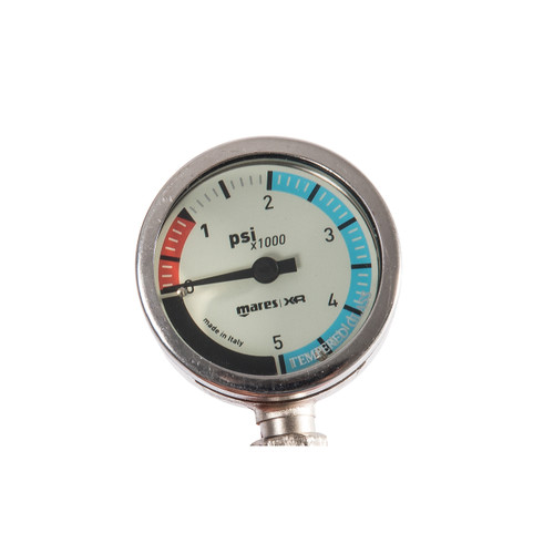 Mares XR Pressure Gauge SPG52 PSI Scuba Diving Tech Gear