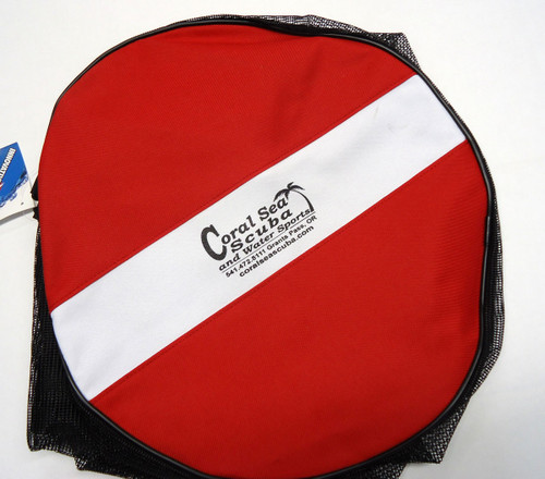 Coral Sea Scuba Logo Dive Flag Mesh Diving Duffel Gear Bag