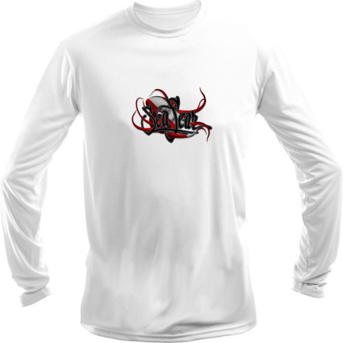 Sea Fear Men's 50+ UPF Long Sleeve Rash Guard Scuba Diving, Snorkeling, Octopus Dive Flag
