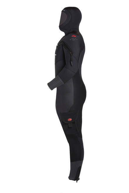 Pinnacle Polar M8 Hooded Full Scuba Diving Wetsuit Men's Merino