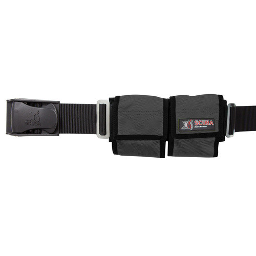 XsScuba Weight Belt Black 4 Pocket