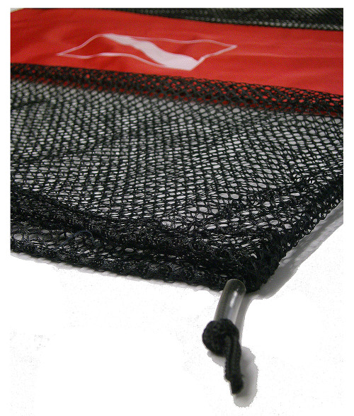 Marine Sports Scuba Diving Mesh Gear Bag Dive Flag Black/ Red 4708DV