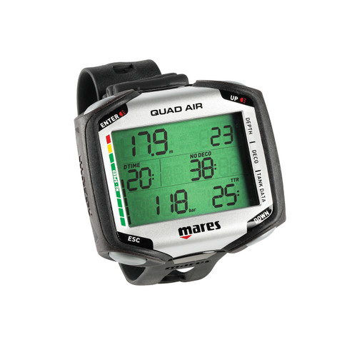 Mares Quad Dive Wrist Mount Computer Scuba Diving Dive w/ LED Transmitter 495123