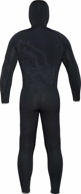 Bare 8/7mm Semi-Dry Ultra Velocity Hooded Full Scuba Diving Wetsuit Men'