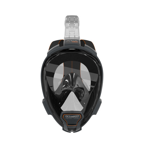 Ocean Reef Aria QR+ w/ Camera Holder Full Face Snorkeling Mask Anti-fog Black
