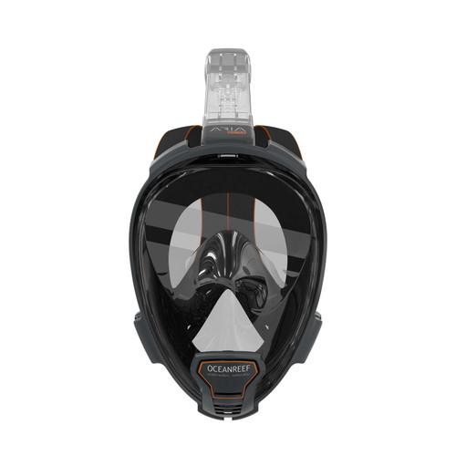 Ocean Reef Aria QR+ w/ Camera Holder Full Face Snorkeling Mask Anti-fog Black