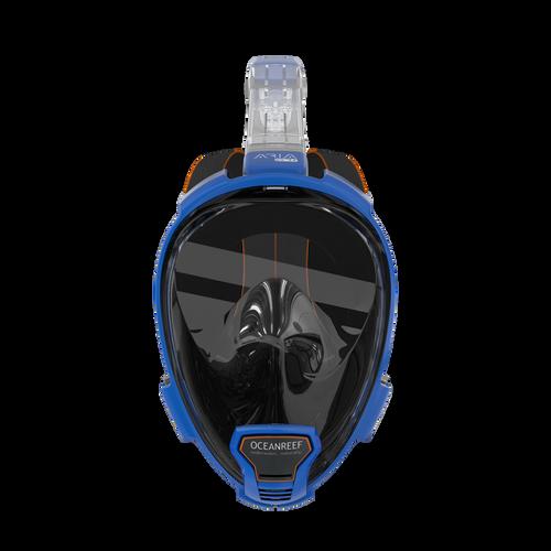 Ocean Reef Aria QR+ w/ Camera Holder Full Face Snorkeling Mask Anti-fog Blue