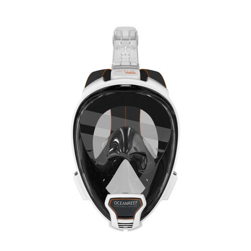 Ocean Reef Aria QR+ w/ Camera Holder Full Face Snorkeling Mask Anti-fog White