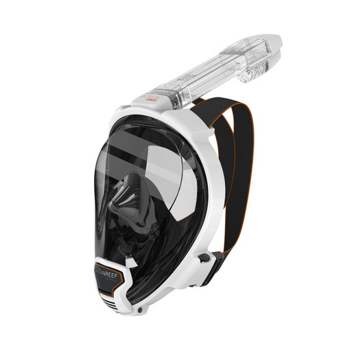 Ocean Reef Aria QR+ w/ Snorkie Talkie Mask Set Diving, Snorkeling White