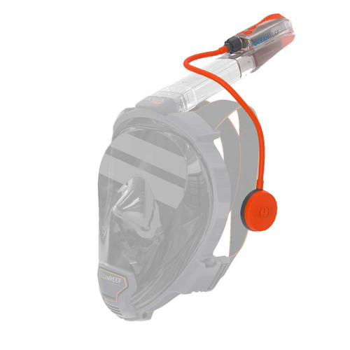 Ocean Reef Aria QR+ w/ Snorkie Talkie Mask Set Diving, Snorkeling Orange
