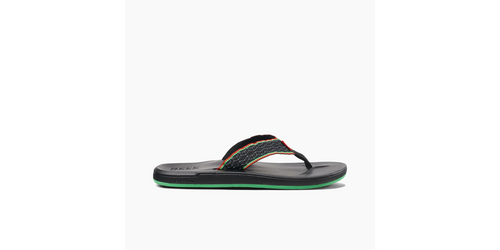 Reef Sandals - Men's Flip Flops - Smoothy - Black - RF0A3OMO - BLA