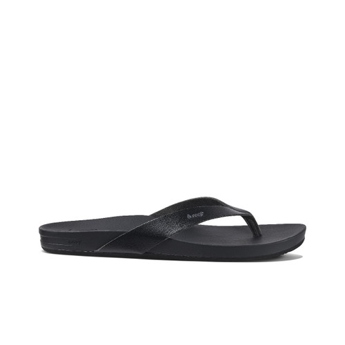 Women's Reef Sandals Flip Flops - Cushion Court - Black - RF0A3FDSBLA
