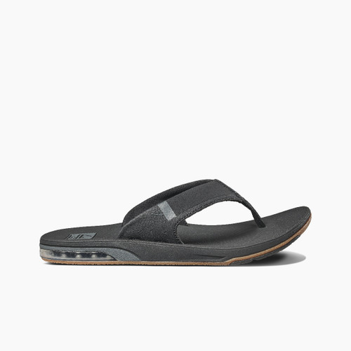 Reef Sandals - Men's Flip Flops - Fanning - Low Black - RF0A3KIHBLA