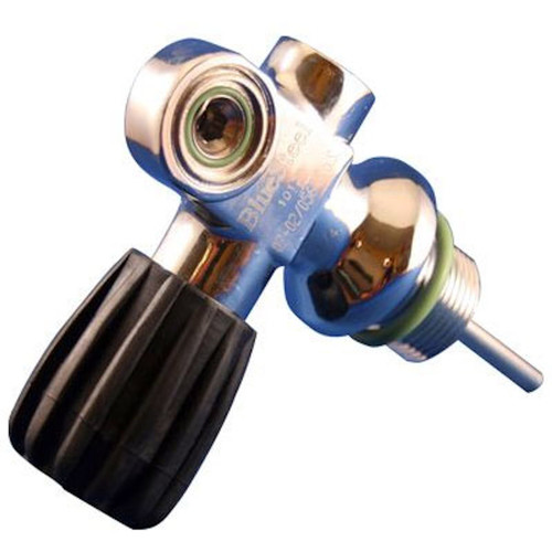 Blue Steel Right Hand Tank Convertible Pro Valve Assembly Scuba Diving Paintball
