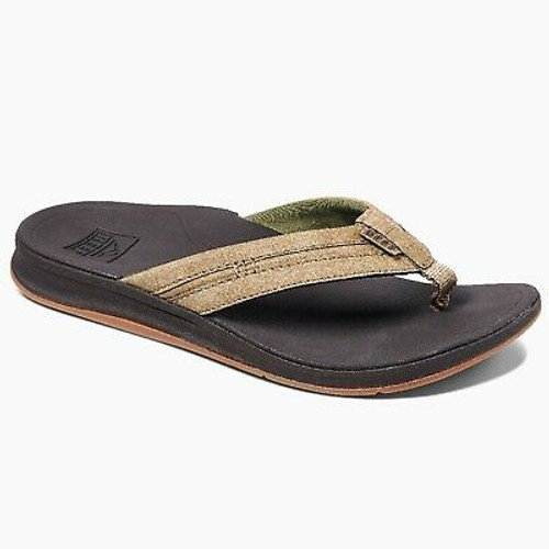 Reef Sandals - Men's Flip Flops - Ortho-Bounce Coast - RF0A3YKQBRO - BRO