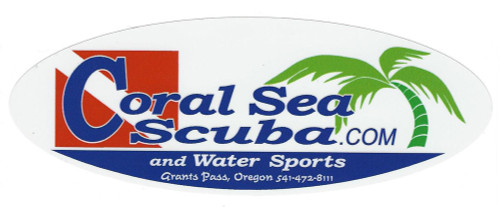 Coral Sea Scuba & Water Sports Sticker