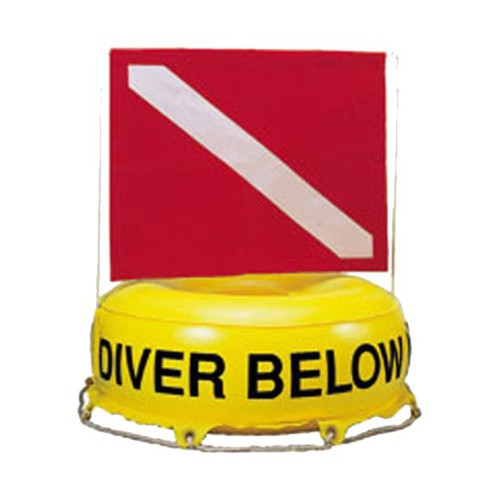 Buoy Inflatable Flag-N-Float Diver Down Flag Float Marker