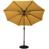Solar Powered 32 LED Lighted Outdoor Patio Umbrella with Crank and Tilt, 9 Feet (Yellow)