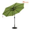 8.2 Ft Sunbrella® acrylic Patio Garden Outdoor Market Umbrella,Push Button Tilt and Crank (Macaw Green)