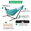 Lazy Daze Hammocks Double Hammock with Space Saving Steel Stand Includes Portable Carrying Case and Head Pillow, 450 Pounds Capacity (Blue&Yellow)