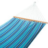 All Weather Sunbrella® Fabric Hammocks with Spread Bar and Handcrafted Polyester Rope for Two Person, Fade Resistant, Dolce Oasis, by Lazy Daze Hammocks