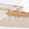 """LazyDaze Hammocks 55"""" Double Quilted Fabric Hammock Swing with Pillow, Natural"""