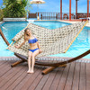 "Lazy Daze Hammocks 55"" Double Quilted Fabric Hammock Swing with Pillow (Romantic Coffee Bean)"