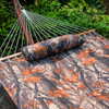 "Lazy Daze Hammocks 55"" Double Quilted Fabric Hammock Swing with Pillow ( Dark Camouflage)"