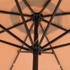 Sundale Outdoor Solar Powered 24 LED Lighted Outdoor Patio Umbrella with Crank and Tilt, 10 Feet, Tan
