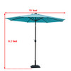 Sundale Outdoor Solar Powered 24 LED Lighted Outdoor Patio Umbrella with Crank and Tilt, 10 Feet, Blue