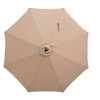 Sundale Outdoor 11 Feet Round Market Patio Umbrella 1.9in Bronze Aluminum Pole with Crank, Sun Protection and Fade Resistant Canopy, No Push Button Tilt, Tan