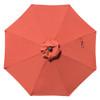 Sundale Outdoor 10 Ft Sunbrella® Canopy Patio Market Umbrella Garden Aluminum Umbrella with Crank and Auto Tilt, Terracotta