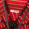 Sundale Outdoor 10 Ft Sunbrella® Canopy Solar Powered 72 LED Lighted Patio Market Umbrella Garden Outdoor Aluminum Umbrella with Crank, Harwood Crimson