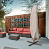 Sundale Outdoor Heavy Duty Patio Offset Umbrella&Frame Cover, Water Resistant, Beige