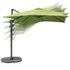 Sundale Outdoor 8.2ft Square Sunbrella® Fabric Offset Hanging Umbrella Market Patio Umbrella Aluminum Cantilever Pole with Crank Lift, Corss Frame, 360°Rotation, for Garden, Deck, Backyard (Macaw)