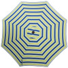 Sundale Outdoor 10 ft FadeSafe Olefin Fabric Patio Market Table Umbrella with Crank and Auto Tilt for Garden, Deck, Backyard, Pool, Solution Dyed and UV Resistant (Blue and Green Stripe)