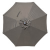Sundale Outdoor 10 ft Solar Powered 24 LED Lighted Patio Umbrella Table Market Umbrella with Crank and Push Button Tilt for Garden, Deck, Backyard, Pool, 8 Steel Ribs (Gray)