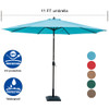 Sundale Outdoor 11 ft Aluminum Patio Umbrella Table Market Umbrella with Crank and Push Button Tilt for Garden, Deck, Backyard, Pool, 8 Steel Ribs, Polyester Canopy (Apple Green)